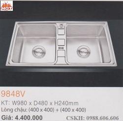Chậu rửa chén inox Erowin 9848V