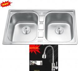 Chậu rửa chén inox Erowin 8949 + DF663